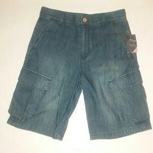 Lucky Brand boys jean cargo shorts Sz 14